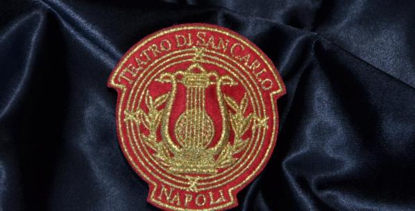 Magnete ricamato logo SAN CARLO NAPOLI
