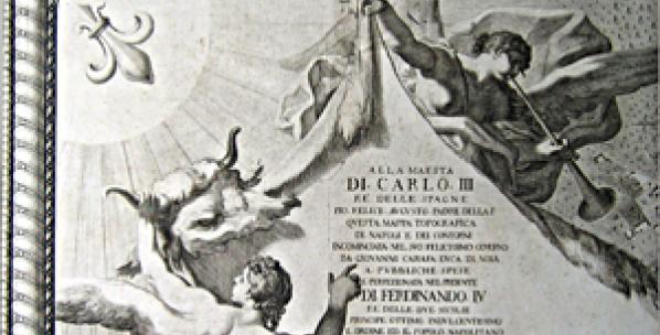 Mappa duca di Noja AMG Arazzo